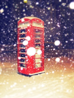 Love the big snow flake. But sad to see on closer inspection that it looks like someone was sleeping rough in the phone box.